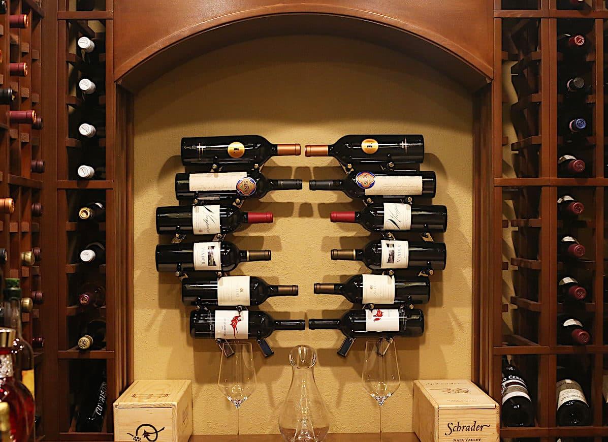 Ultra Contemporary Wine Rack Wall Rails Cool Wine Cellar
